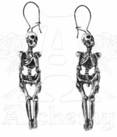 Alchemy Gothic oorbellen - Hanging Skeletons