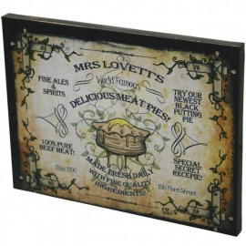 Mrs Lovett's - wandbord Dr Wierd 19 x 25 cm