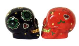 Zout en Peper set Suiker Skulls Doodskoppen Day of the Dead Dia de Muertos 6.5 cm hoog