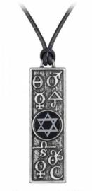 Alchemy Gothic ketting - Principia Alchemystica - 6.5 cm hoog