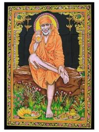 Muurkleed Sai Baba - c.a. 80 x 110 cm