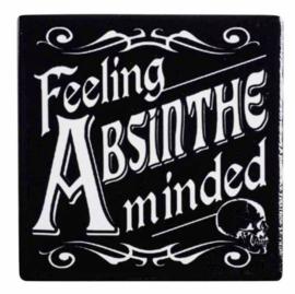Alchemy of England keramieke onderzetter - Feeling Absinthe Minded  - 9.3 x 9.3 cm