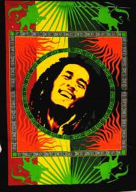 Wandkleed Bob Marley in Cirkel - 80 x 110 cm