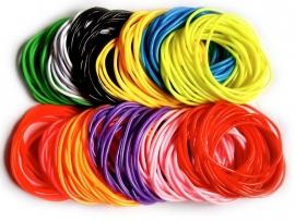 Silicon rubber `gummy` bracelets neonkleurig
