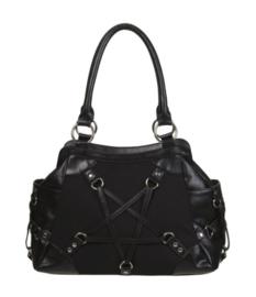Banned Apparel  - Stand Still Bag - Gothic handtas met pentagram dessin - 45 x 17 x 27 cm
