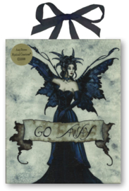 Keramieke wandtegel - Gothic fee - Go Away - dessin Amy Brown - 20 x 25 cm