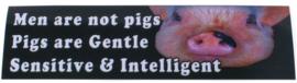 Bumper sticker Pigs