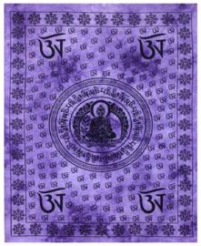 Bedsprei wandkleed tweepersoons Boeddha Tibet Paars - 210 x 220 cm