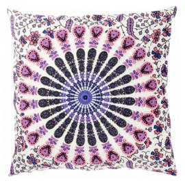 Indiase Katoen Boho Mandala Kussenhoes Licht Roze - 40 x 40 cm