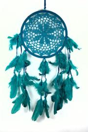 Droomvanger turquoise gehaakt 21 cm doorsnee