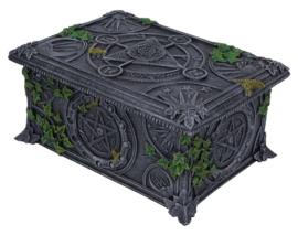 Wiccan Pentagram - Tarotkaarten opbergdoos - 17 cm lang