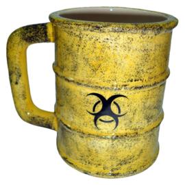 Toxic waste - Gothic mok met zombie teken - 12,5 cm hoog