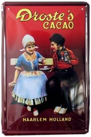 Blikken metalen wandbord Droste's Cacao 20 x 30 cm