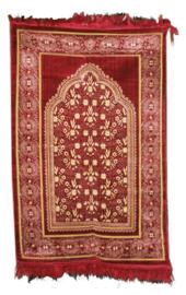 Islamitisch bidkleed / gebedskleed bordeaux rood