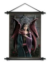 Soul Mates - Gothic muurscroll van Anne Stokes