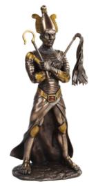 Osiris - Egyptische god - bronskleurig beeld - 28 cm hoog