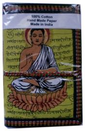 Indiase journaal 10 x 15 cm boeddha geel