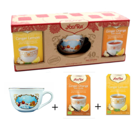 Yogi Tea Cup Bundle 4 - Ginger Lemon & Ginger Orange