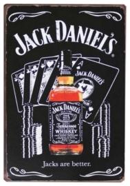 Blikken metalen wandbord Jack Daniel's 6 - 20 x 30 cm