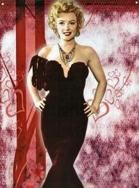 Metalen wandplaat Marilyn 3 - 21 x 31 cm