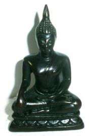 Boeddha Mudra zwart 11 cm