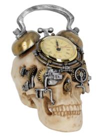 Final Countdown - Steampunk Doodskop Klok - 20 cm hoog