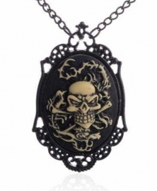 Gothic horror steampunk camee ketting verdronken zeeman 1