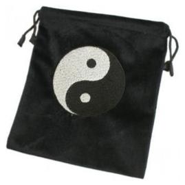 Tarot kaarten opbergtas yin yang zwart