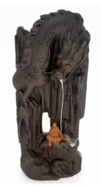 Backflow wierookbrander Chinese draak met mens - 26 cm hoog