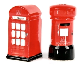Zout en peper set Brits brievenbus + postbus