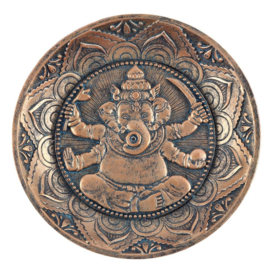 Wierook brander bordje Ganesh 12.5 cm doorsnee