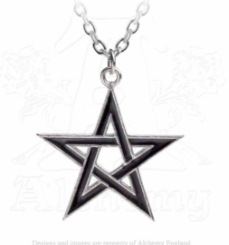 Alchemy Gothic Zwarte Pentagram nekketting - Black Star