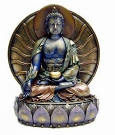 Medicine Boeddha met achterblad 15.5 cm