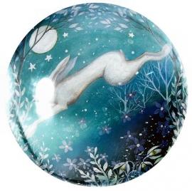 Glazen presse papier Moonlight - Amanda Clark - 8 cm doorsnee