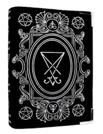 Restyle schoudertas Satanische Black Book bag - Sigil of Lucifer  - 30 x 21 x 7 cm