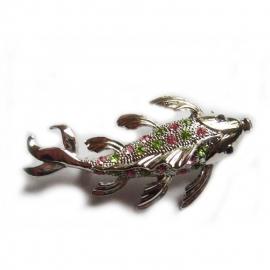 Design stalen broche in de vorm van een vis