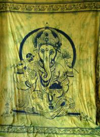 Bedsprei / wandkleed Ganesha lijmgroen 210 x 240 cm