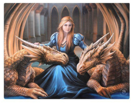 Loyal Company Anne Stokes canvas wandbord 25 x 19 cm