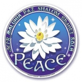 Raamsticker Peace Lotus
