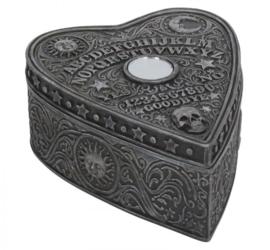 Ouijabord spiritbord sieradendoos planchette vorm - 12 cm lang