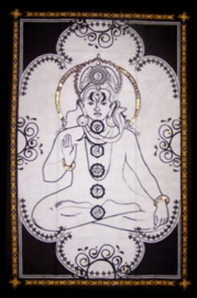 Muurkleed Chakra Kunst Zwart-wit