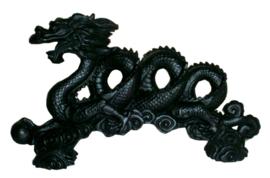 Feng Shui Chinese Draak - zwart - 30 cm lang