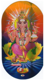 Ovale sticker Ganesh