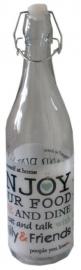 Hersluitbare wijnfles wit