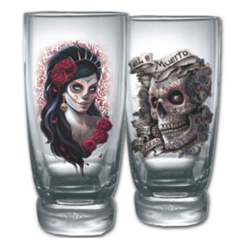 Spiral Direct - Day of the Dead - Dia de Muertos - sugar skull - waterglazen set - 14 x 6 x 6