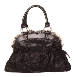 Banned Apparel - Reinvention bag - zwarte Gothic handtas t - 40 x 23 x 10 cm