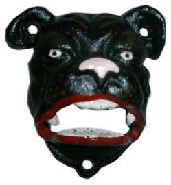 Gietijzeren flessen opener - pug hond