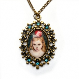 Punk Gothic camee & cabochon hangers met ketting