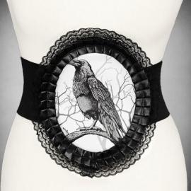Restyle Gothic elastische riem Raaf