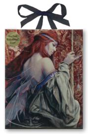 Keramieke wandtegel - Gothic fee - The Unicorn Tapestry - dessin Brian Froud - 20 x 25 cm